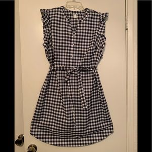 Dresses & Skirts - Old navy sleeveless gingham popover dress NWWT